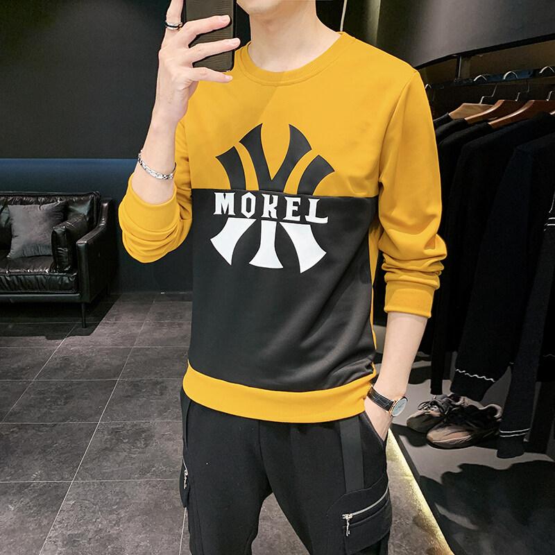2020春秋季新款男士圆领卫衣男潮流套头韩版外套男个性印花