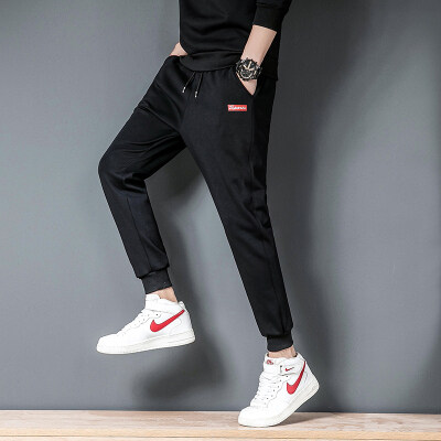 2020春夏季运动裤男休闲裤男士学生薄款夏季韩版修身小脚裤子
