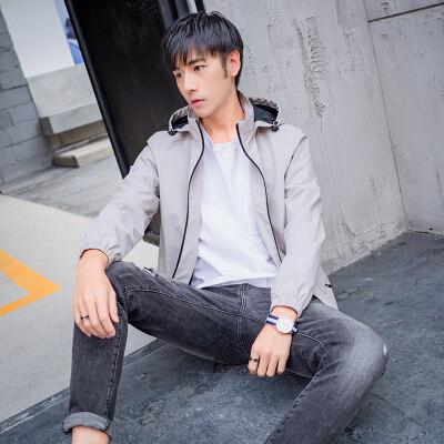 2020春秋新款男士外套韩版潮流夹克男外贸大码休闲男士夹克衫