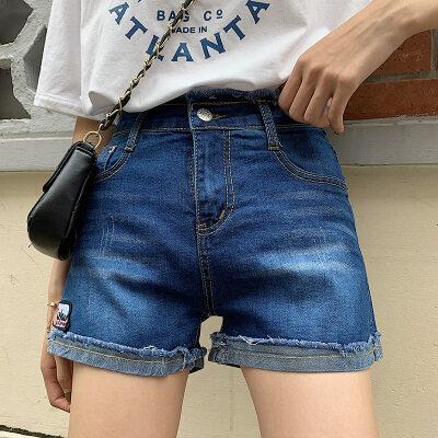 2020夏装实拍网红牛仔短裤女新款韩版百搭显瘦学生A字热裤女