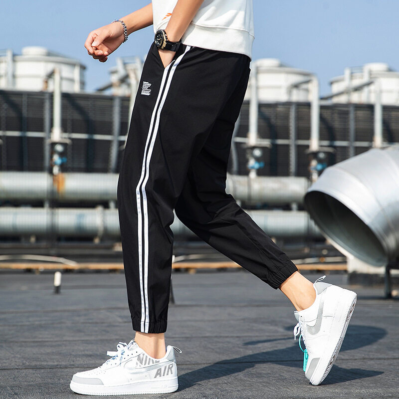 2020春秋季韩版男裤潮流纯色男款休闲裤男式弹力工装裤大码男