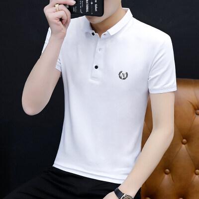短袖T恤男士2020新款夏季POLO衫男带领t恤男装潮流上衣
