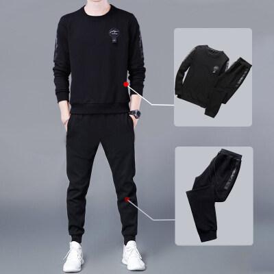男士卫衣长袖运动套装2020春季新款韩版潮流帅气休闲两件套