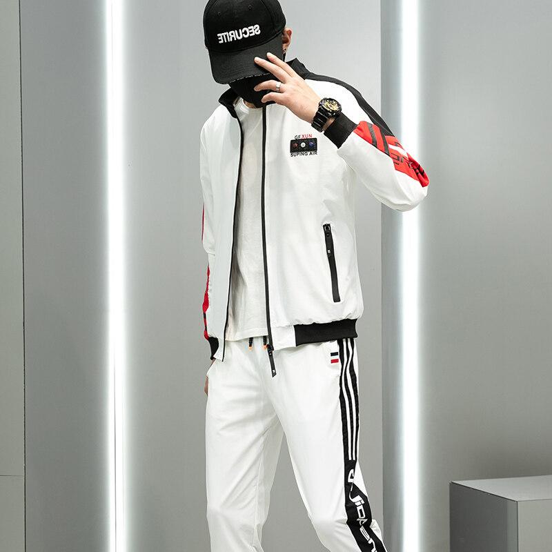 2020新款运动套装男潮牌休闲卫衣休闲裤外套青少年夹克