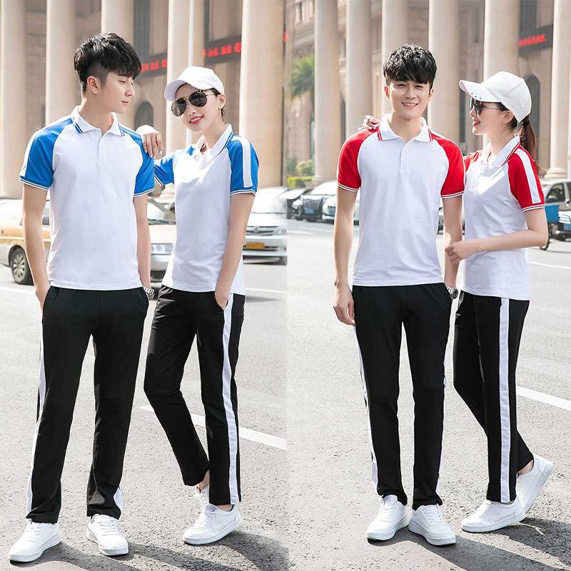学生校服夏季2019新款男女中学生班服短袖校服幼儿园园服套装印制