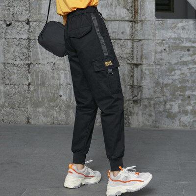 2020年春夏新款 工装裤女显瘦高腰宽松休闲裤bf百搭运动裤