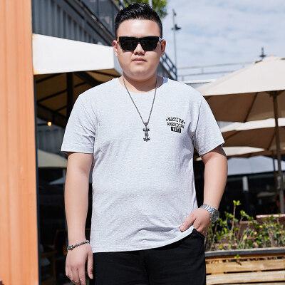 夏季新T恤男士圆领学生半袖宽松上衣韩版加大青少年打底衫衣短袖