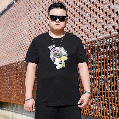 新夏季短袖t恤男士青年上衣半袖胖子加肥加大码男装加肥加大T恤