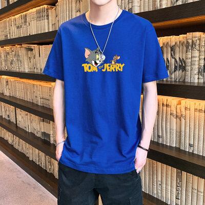 68049夏季新款短袖t恤男士夏装上衣韩版潮流衣服打底衫港风