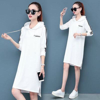 嘉健现货女装2020新款韩版宽松休闲大码中长款减龄连衣裙