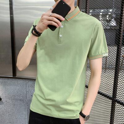 男装夏季polo衫短袖纯色宽松男士上衣