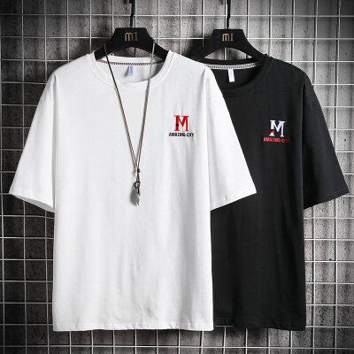 男士短袖T恤夏季新款体恤韩版修身个性汗衫青年男装衣服潮流半袖
