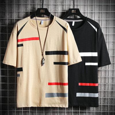 男士短袖t恤2020新款夏季韩版潮流宽松半袖纯棉上衣服体恤