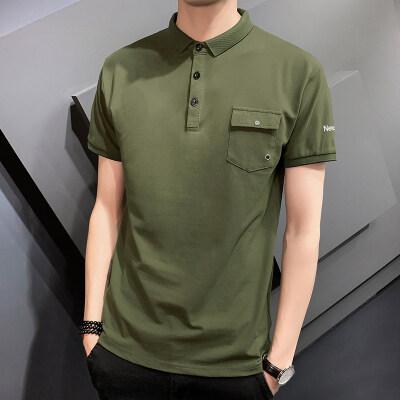 男装夏季polo衫短袖纯色男士上衣