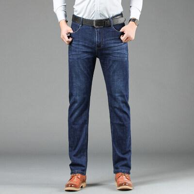 春季新款休闲裤子男士牛仔裤宽松直筒弹力韩版潮流百搭修身裤子男