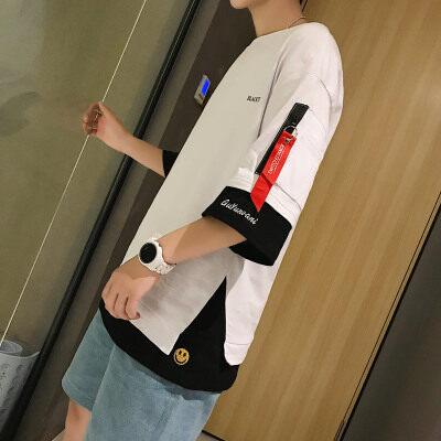 港风-雷 T18838-P35 95%棉5%聚酯纤维 2020夏季新款T恤男