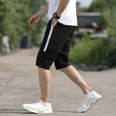 夏季经典爆款短裤休闲七分裤运动棉麻短裤舒适弹力短裤
