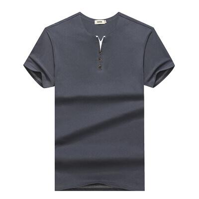 男士长袖T恤V领男装韩版潮流短袖潮牌纯棉秋衣上衣服打底衫小衫