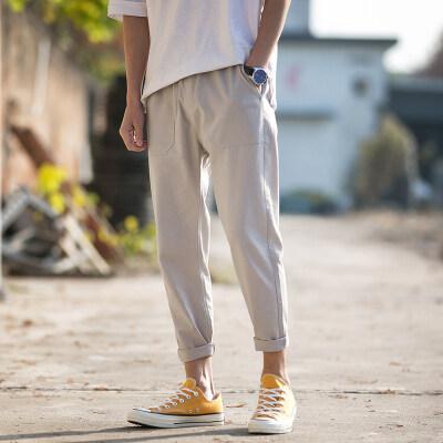 港风-华子 K20425-P35 100%棉 2020夏季新款休闲裤 男