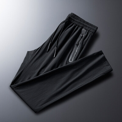 冰丝裤子男装春季薄款休闲裤九分潮流男士运动束脚裤宽松长裤夏季