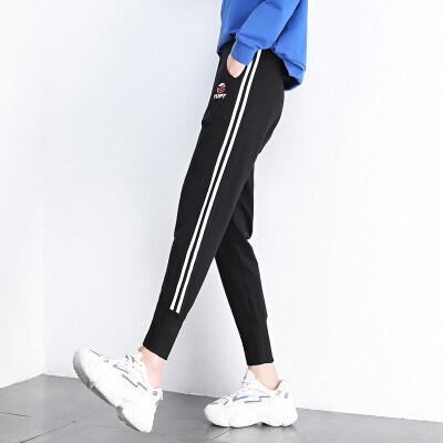 现货一件代发休闲运动裤女020年新款矮小个子九分小脚裤子宽