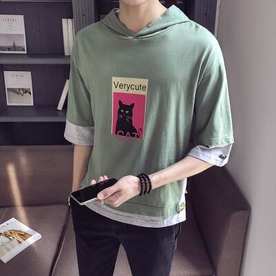 室内-木木 T18834-P35 95%棉5%聚酯纤维 2020夏季新款T恤男