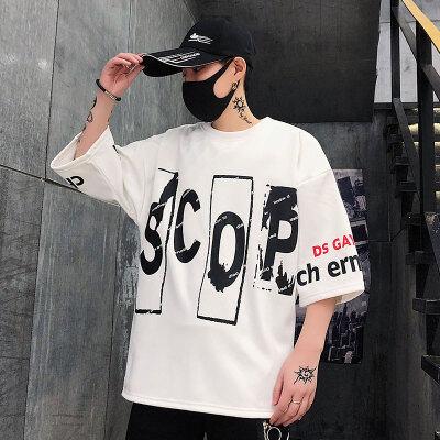 2020新款男夏季潮牌短袖t恤韩版潮流ins半袖体恤宽松纯色