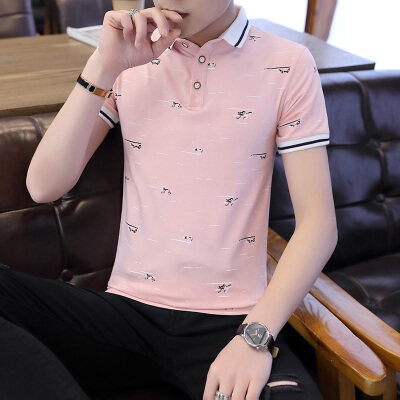 t恤男士短袖2020新款夏季潮流男装纯棉上衣服长袖polo衫