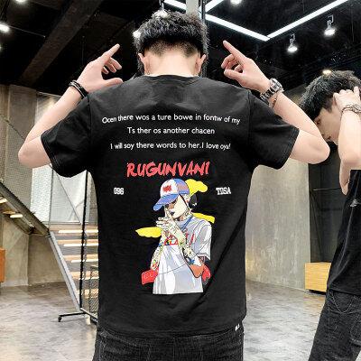 2020夏季纯棉短袖T恤嘻哈潮牌印花衣服男青少年韩版原创上衣