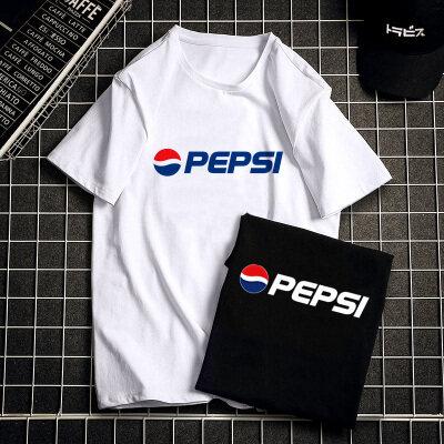 2020新款潮牌字母印花短袖t恤男士宽松大码套头圆领纯棉体恤