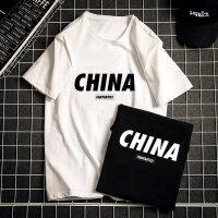 夏季新款潮牌中国字母印花短袖t恤男纯棉宽松圆领体恤跑量打底衫
