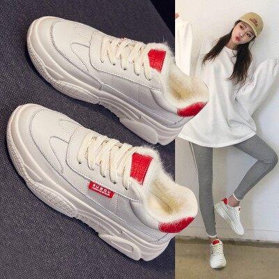2019新款老爹鞋女百搭冬季秋冬加绒棉鞋冬鞋休闲潮鞋运动小白鞋