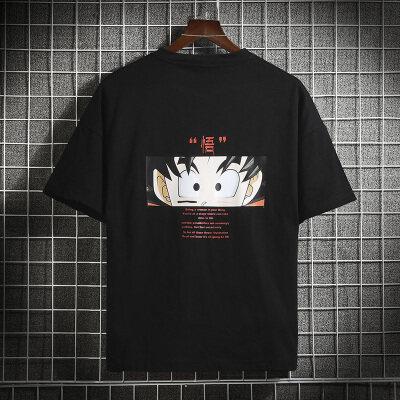 2020新款T恤男短袖男体恤男t恤男港风宽松日系网格挂拍短袖