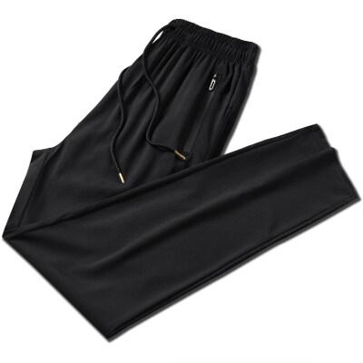 速干裤子男夏季超薄款空调裤直筒宽松弹力透气运动休闲长裤男夏装