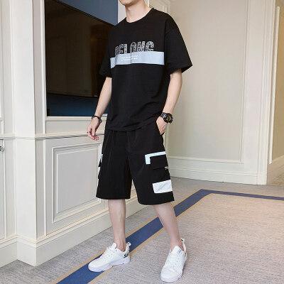 男士春夏季新款短袖短裤运动休闲套装韩版潮流时尚百搭
