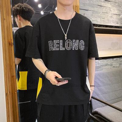 男士春夏季新款短袖运动休闲T恤韩版潮流时尚百搭