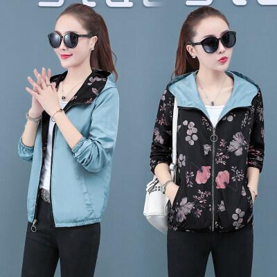 现货一件代发女装秋季外套两面穿夹克韩版休闲百搭