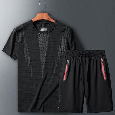 2020新款夏季运动套装男套装短袖短裤宽松透气休闲跑步篮球训