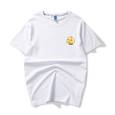 余文乐t恤男潮牌情侣短袖夏季圆领纯棉宽松男装半袖沙滩体恤上衣
