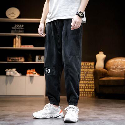 日系马切达 K2065-P35 100%聚酯纤维 2020春季新款休闲裤 男