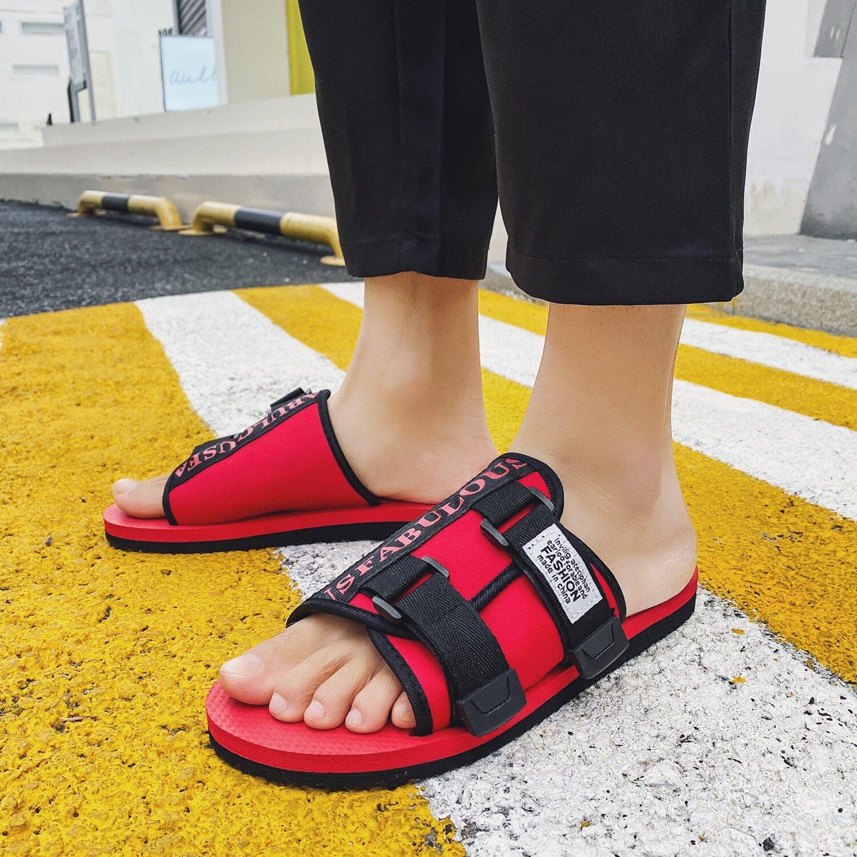 K88夏季男鞋透气半拖人字拖一字拖凉鞋