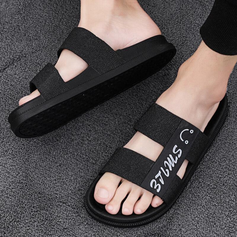 LK7011拖鞋男潮流室外夏季家用时尚外穿韩版个性凉拖男士沙滩一字拖男潮