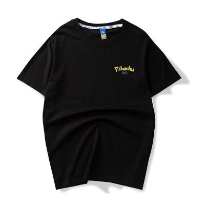 余文乐潮牌圆领t恤男短袖2020新款夏纯棉宽松半袖潮流男装i
