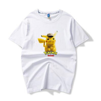 余文乐夏季潮牌短袖T恤男纯棉大码宽松沙滩圆领打底半袖男装上衣
