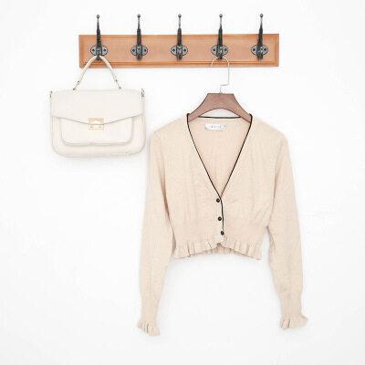 2020春夏纯棉针织衫女韩版修身短款开衫外套新款线衫
