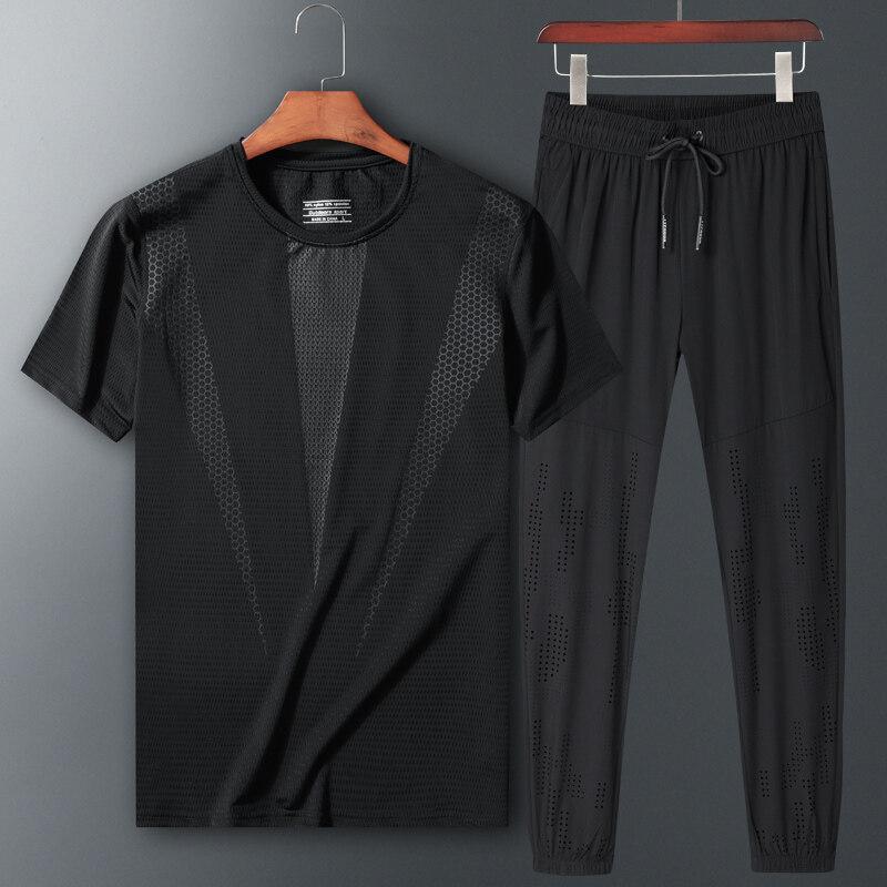 80605运动套装夏季新款短袖长裤两件套加大加肥宽松休闲两件套夏