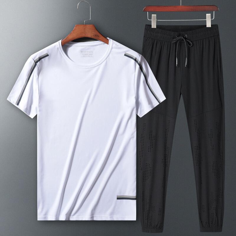 80705运动套装夏季新款短袖长裤两件套加大加肥宽松休闲两件套夏