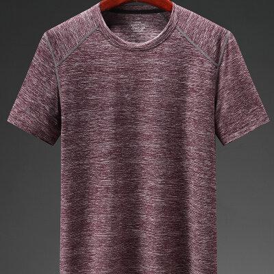款男休闲加肥加大码运动服冰丝短袖短裤速干T恤短袖圆领衫