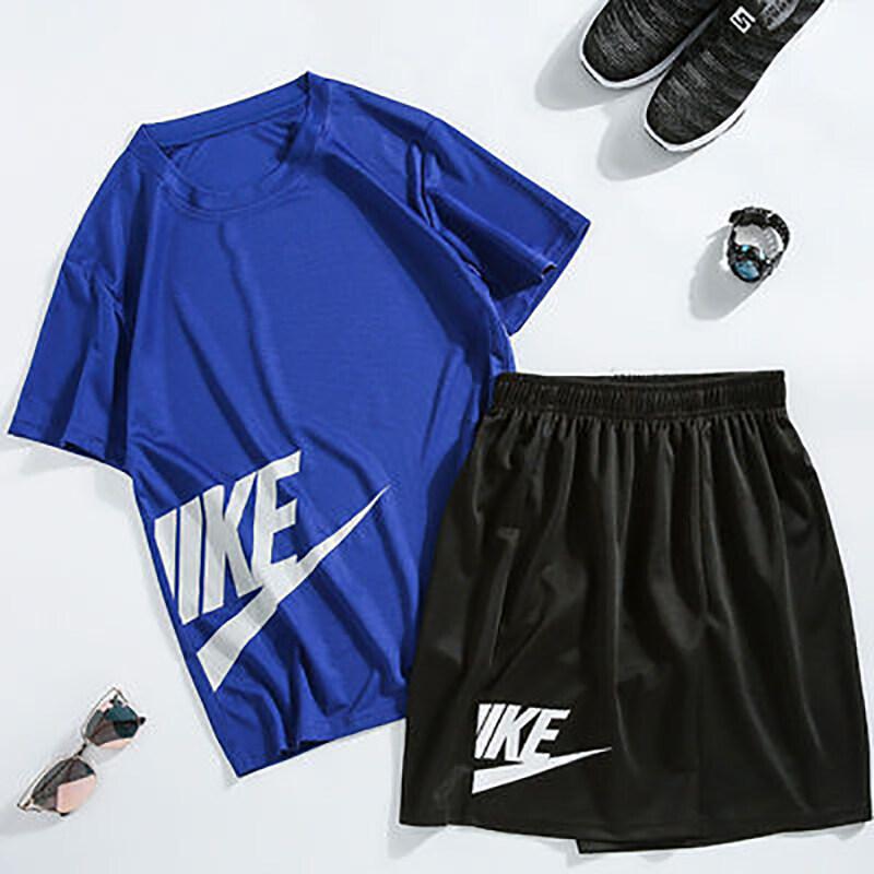 NKTZ001仿耐克速干套装2020夏季新款男士休闲装短袖透气五分短裤健身