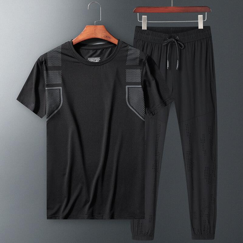 80905运动套装夏季新款短袖长裤两件套加大加肥宽松休闲两件套夏